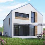 dom jednorodzinny 85m2 powierzchnia użytkowa skośny 2